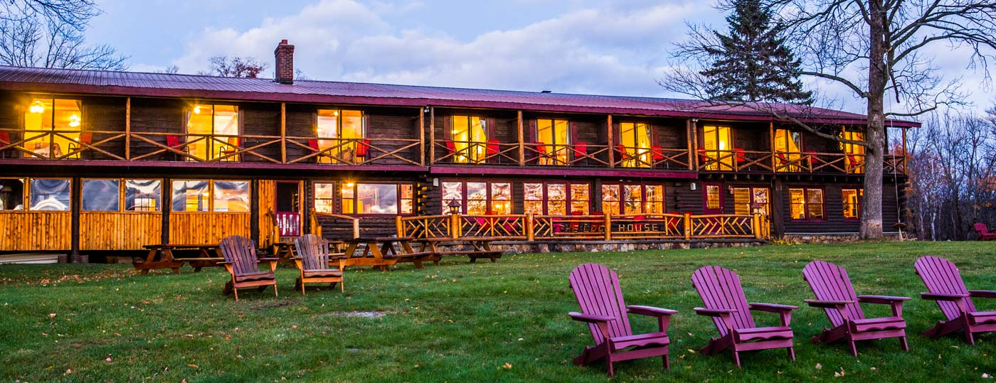 The Log House, rustic and historic Adirondack lodging
