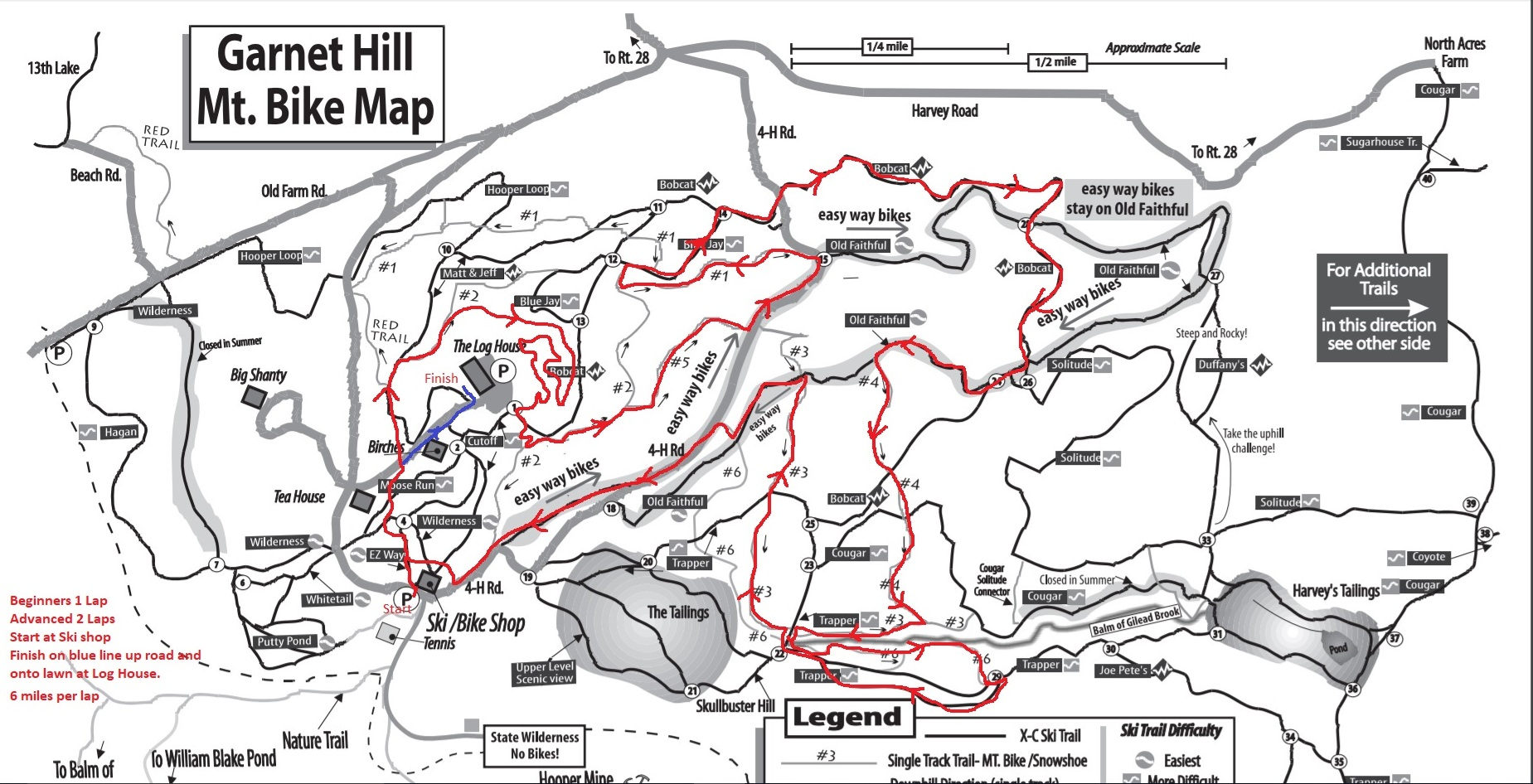 Garnet Hill Grit Bike Race Course Map Garnet Hill