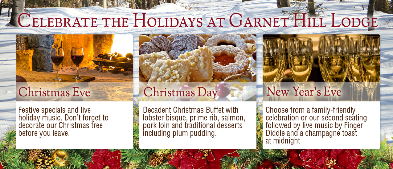 Celebrate the Holidays at Garnet HIll Lodge
