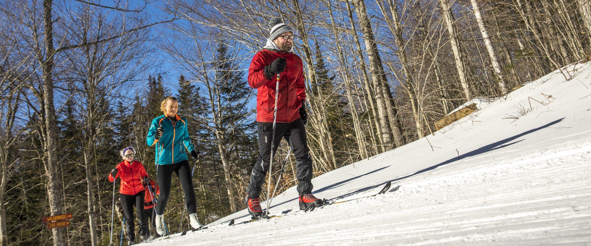 Winter actvity on a sunny day at Garnet Hill Lodge. photo by Nancie Battaglia