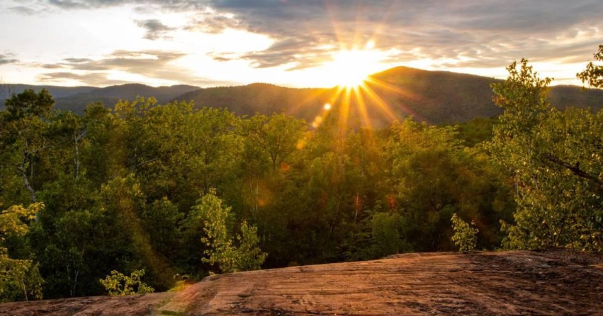sunrise on summit