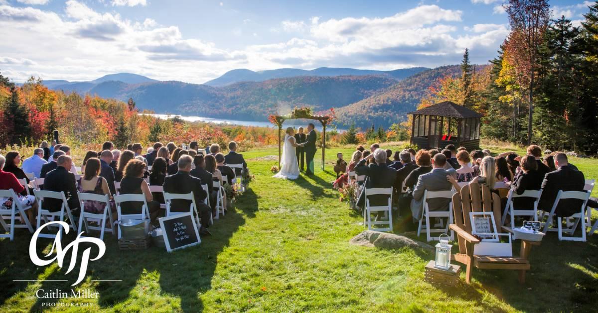wedding ceremony in fall