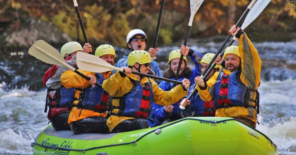 group whitewater rafts